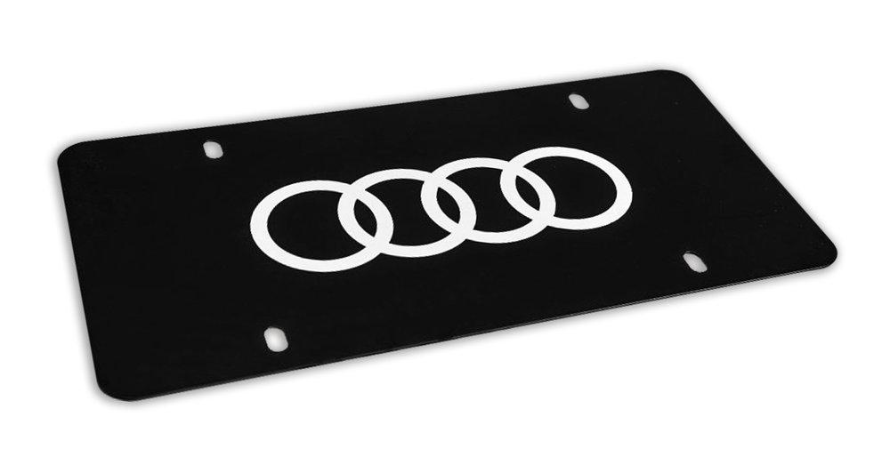 Audi Black Marque Plate