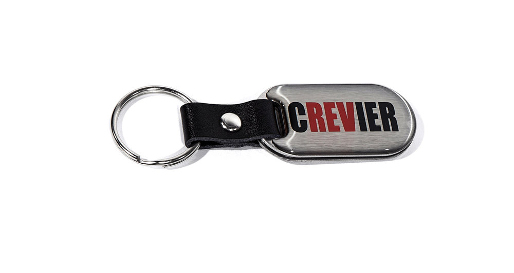 Custom Brushed Crevier Keychain