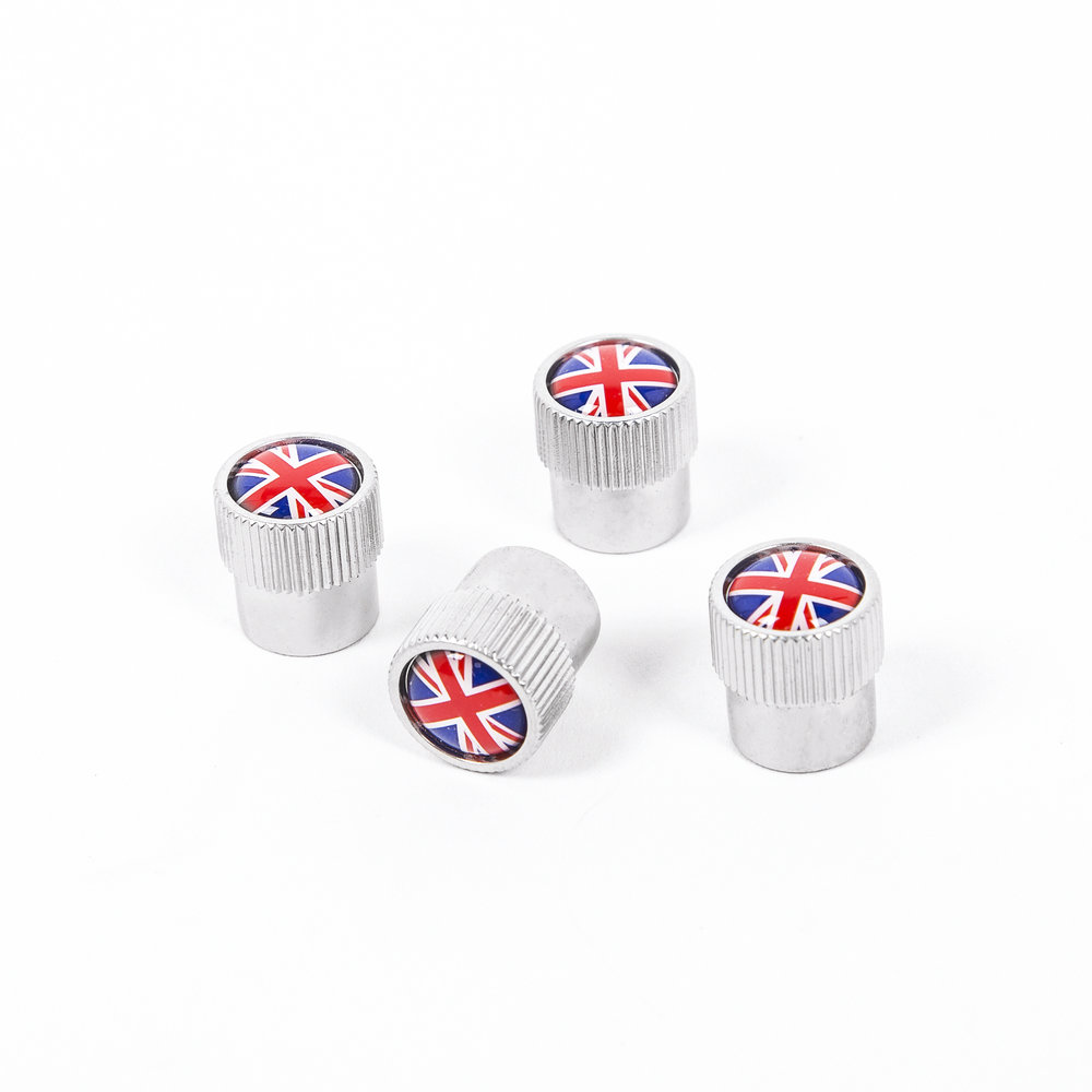 Union Jack Valve Stem Caps