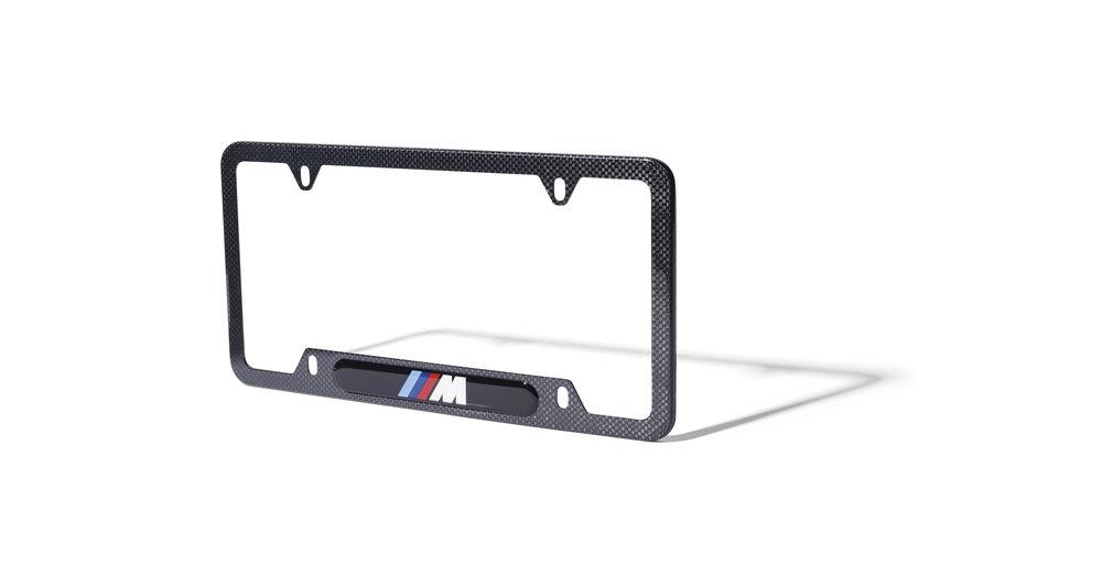 BMW M Carbon Fiber Nameplate Frame