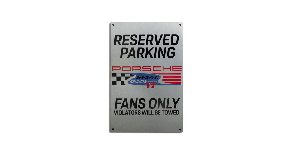 Porsche Rennsport Brushed Parking Sign