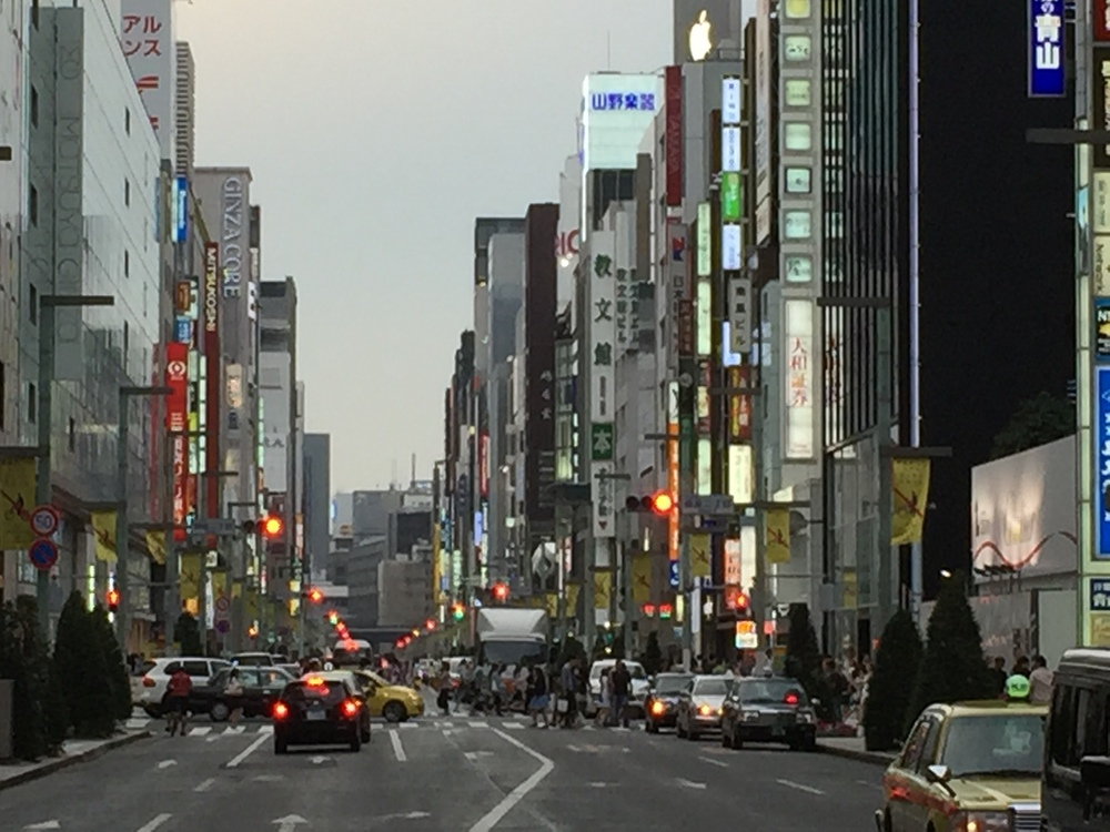 Street view of the Ginza District