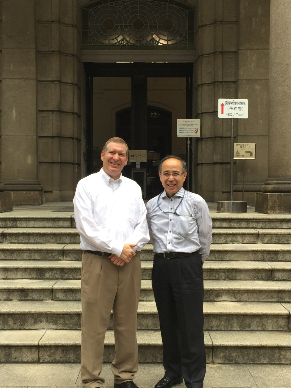 John Lunt & Shinji Isaki at Bank of Japan