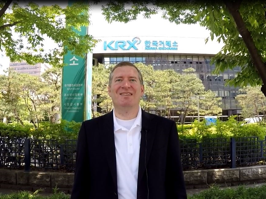 John Lunt at the Korea Stock Exchange