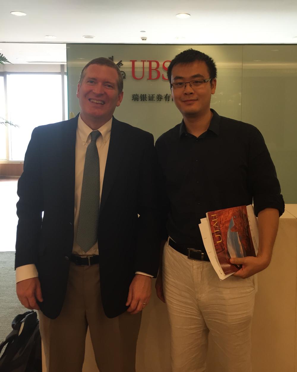 John Lunt with Harrison Hu