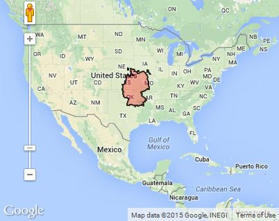 Country size comparison: Germany v. USA