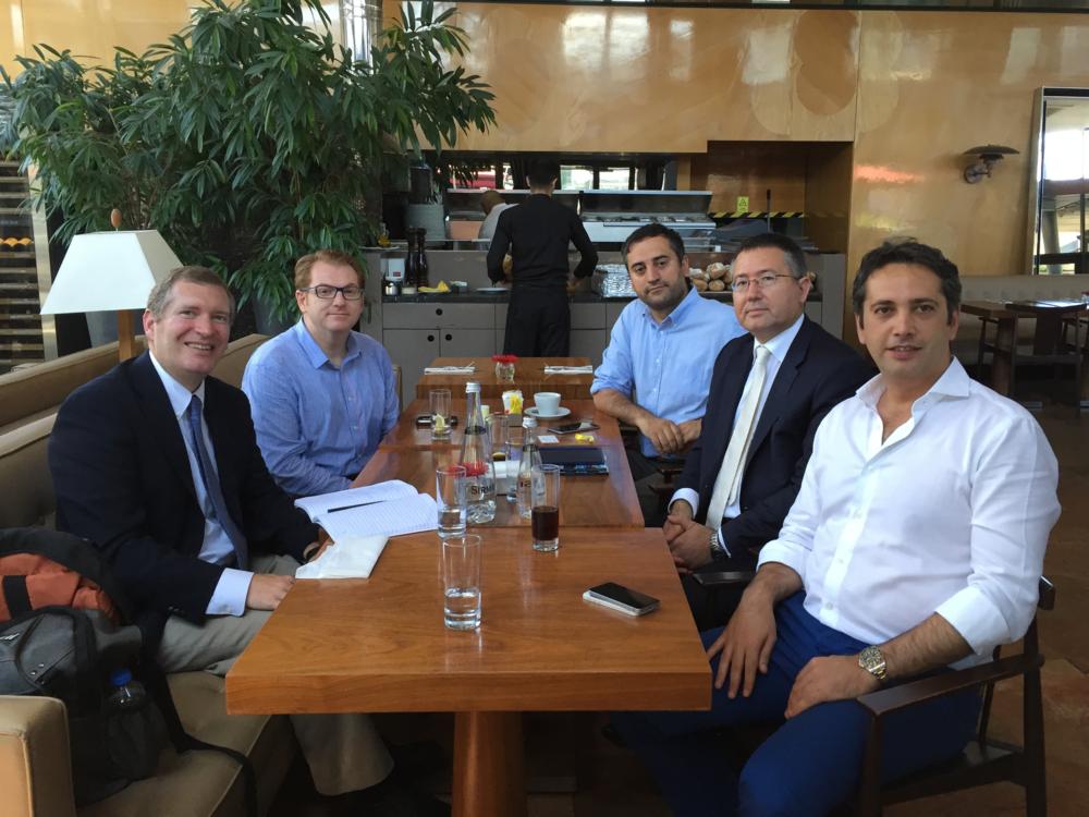 Clockwise from left: John Lunt, Gokay Turaniloglu, Mustafa Eregen, Ali Koc, and Mustafa Kemal Kesen
