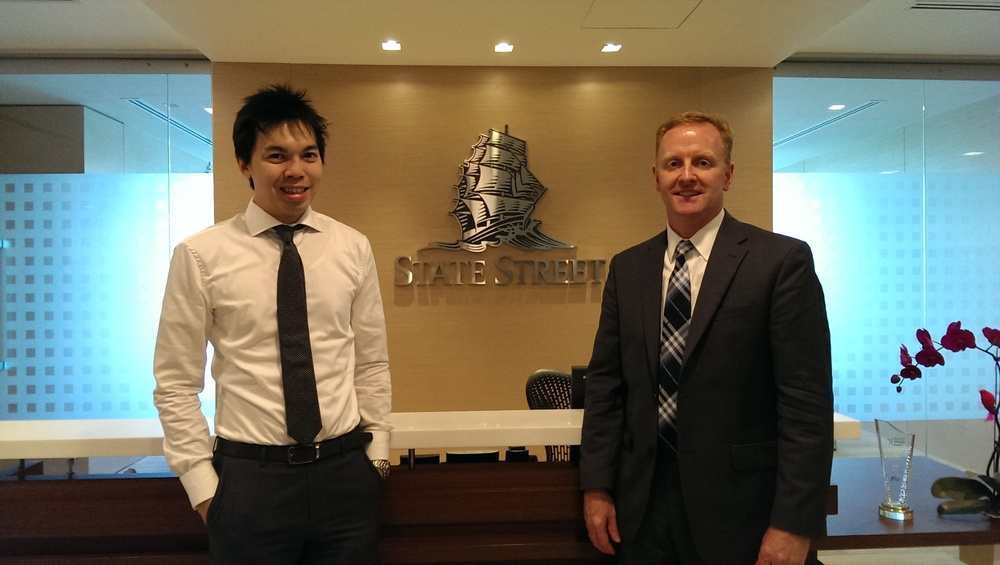 Ryan Hessenthaler with Sunny Leung, ETF Business Development Manager