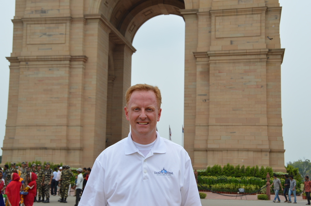 Ryan Hessenthaler at the India Gate