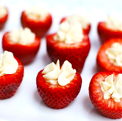 Sumptuous Bites  Cheesecake-Filled Strawberries