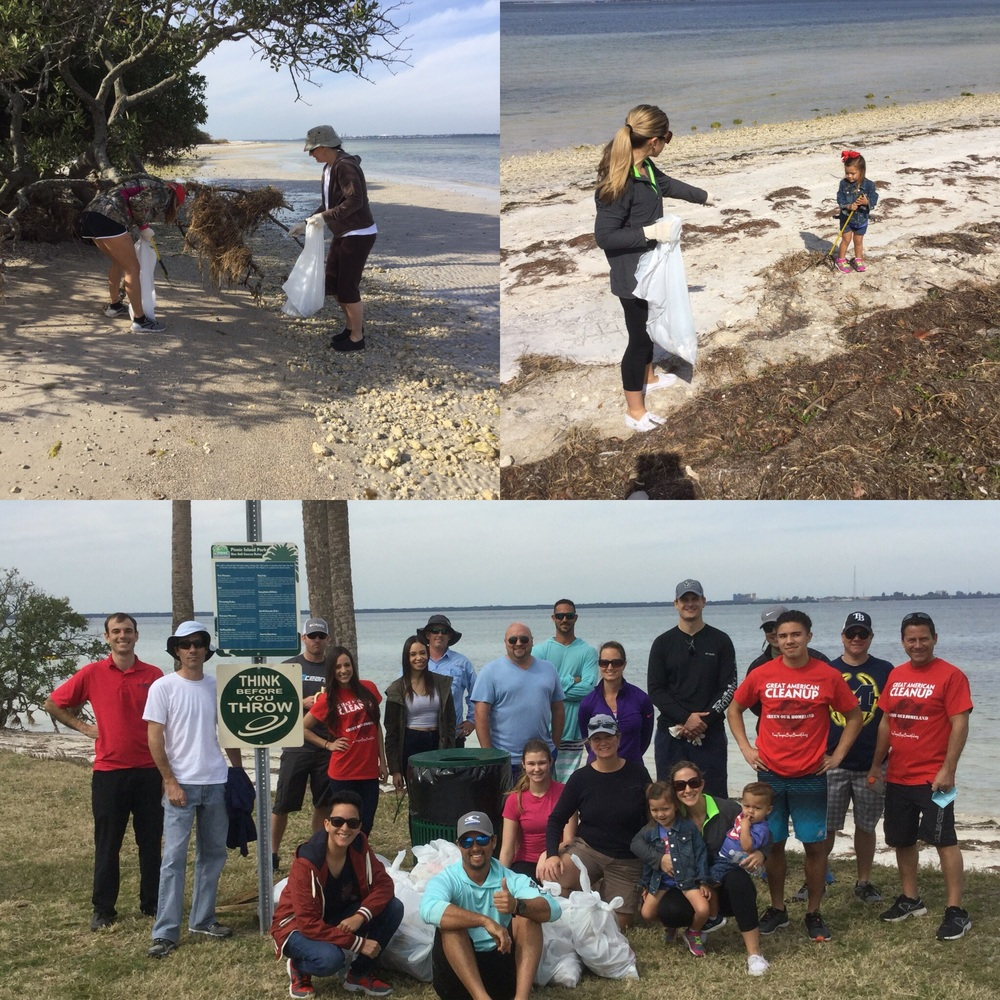 Great American Cleanup at Picnic Island Park.