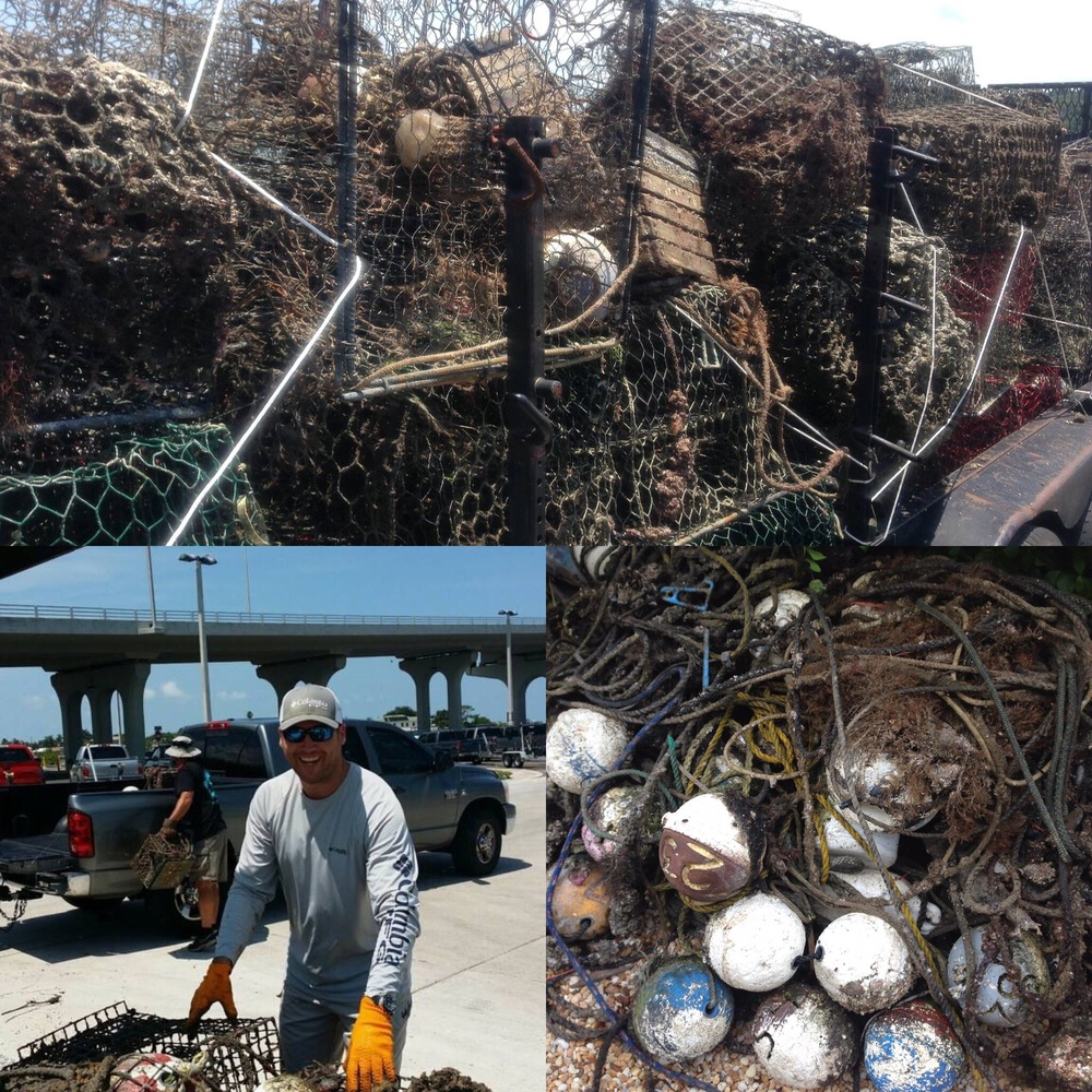 Some pics from the event...almost 2 tons of derelict gear recovered and recycled utilizing the Fishing for Energy program.