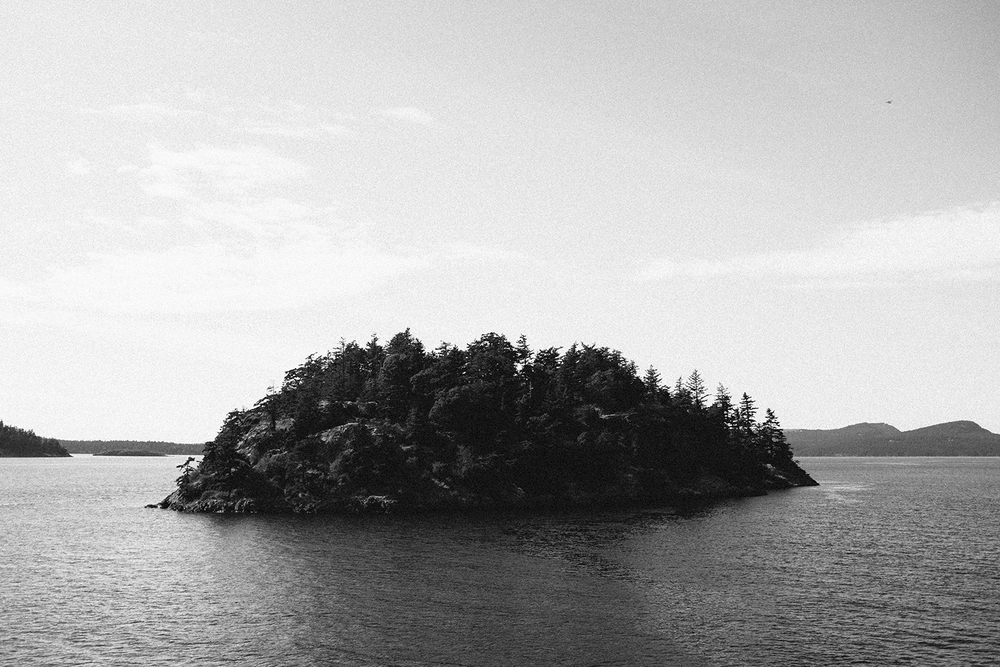 Countless islands pepper the Straight Of Juan De Fuca, the salt water inlet between Washington and British Columbia.