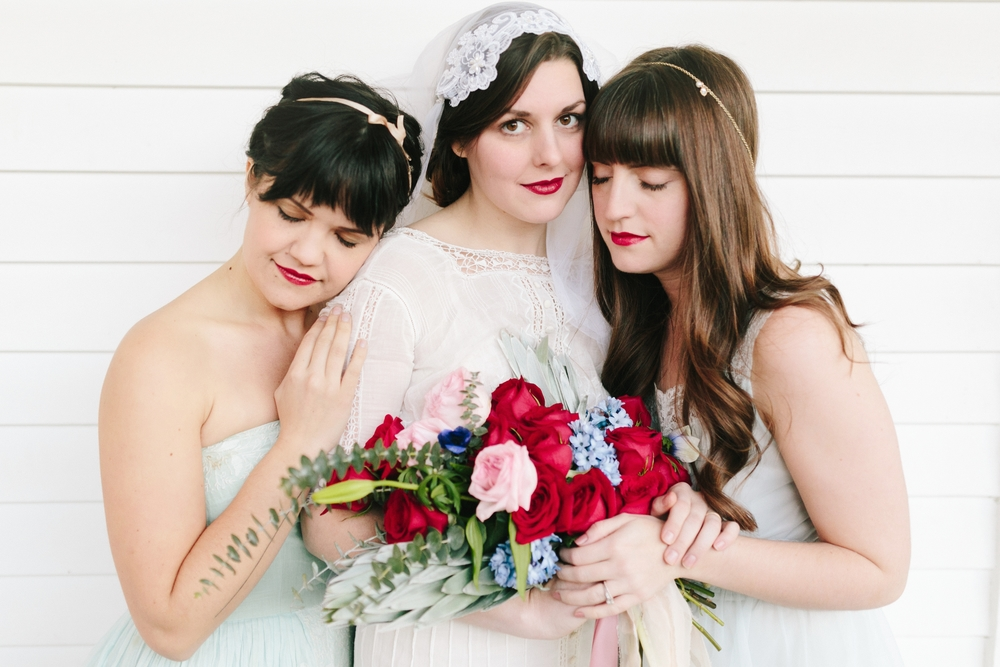 Valentines Bride and Her Bridesmaids  Styled Session  Hurtienne Photography  Portland Oregon Wedding Photographers (41)
