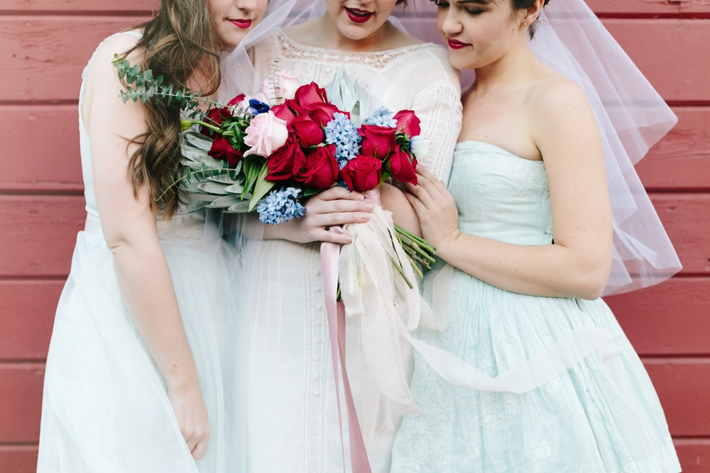 Valentines Bride and Her Bridesmaids Styled Session Hurtienne Photography Portland Oregon Wedding Photographers (47)