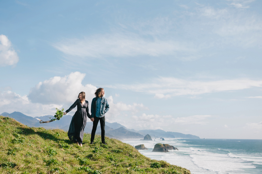 Lauren and Patrick, Oregon Coast Cannon Beach, Oregon Engagement Session, Grace and Jaden Hurtienne Photography (9)