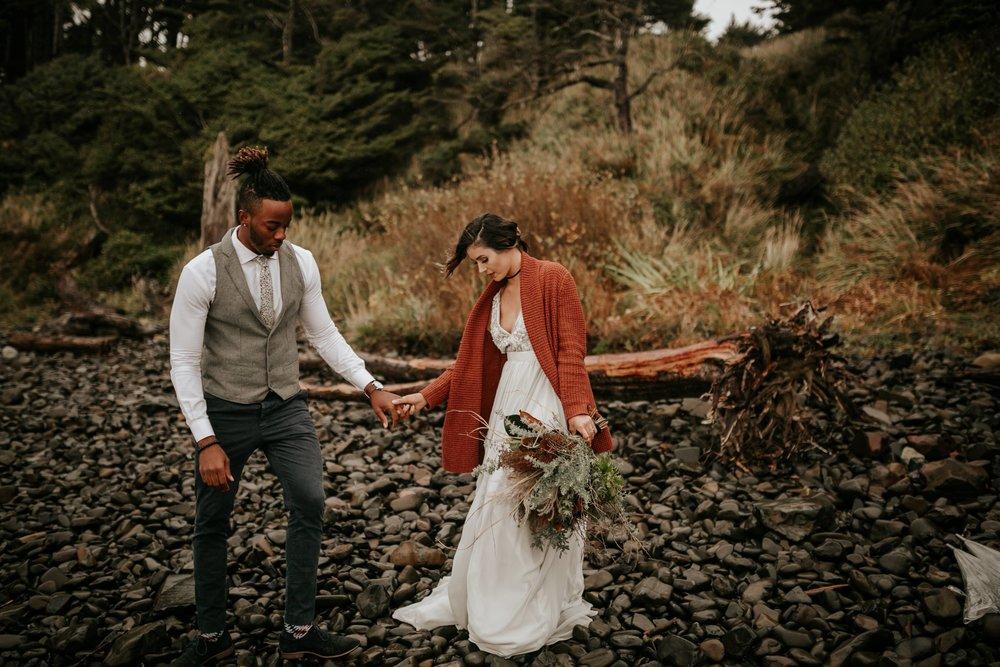Hug Point Oregon Elopement- Cannon Beach- Grace and Jaden Photography (2).jpg