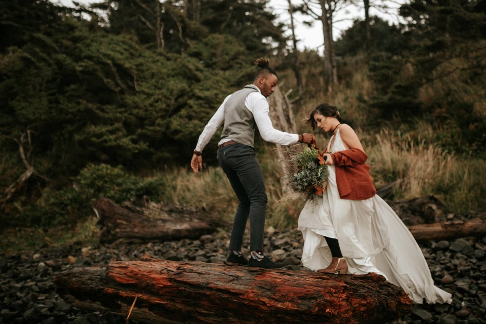 Hug Point Oregon Elopement- Cannon Beach- Grace and Jaden Photography (9).jpg