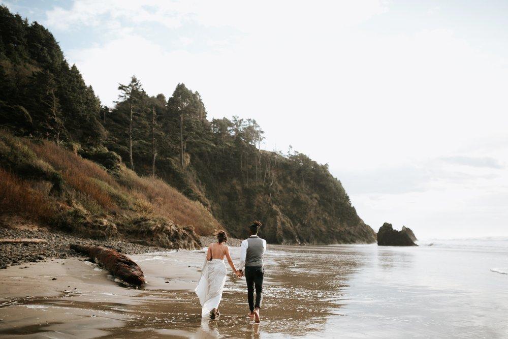 Hug Point Oregon Elopement- Cannon Beach- Grace and Jaden Photography (38).jpg