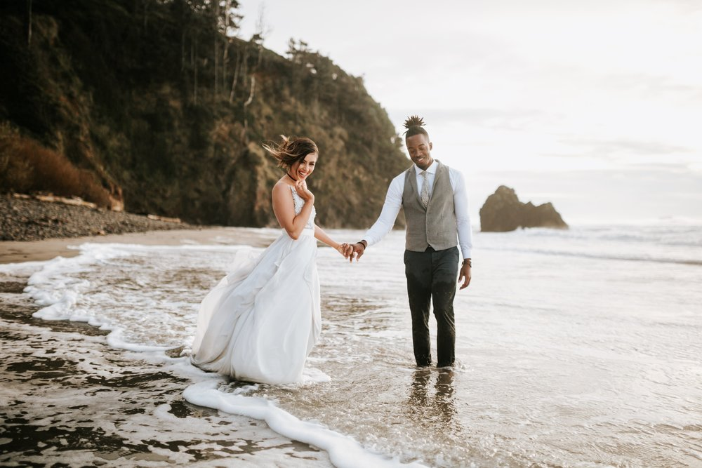 Hug Point Oregon Elopement- Cannon Beach- Grace and Jaden Photography (42).jpg
