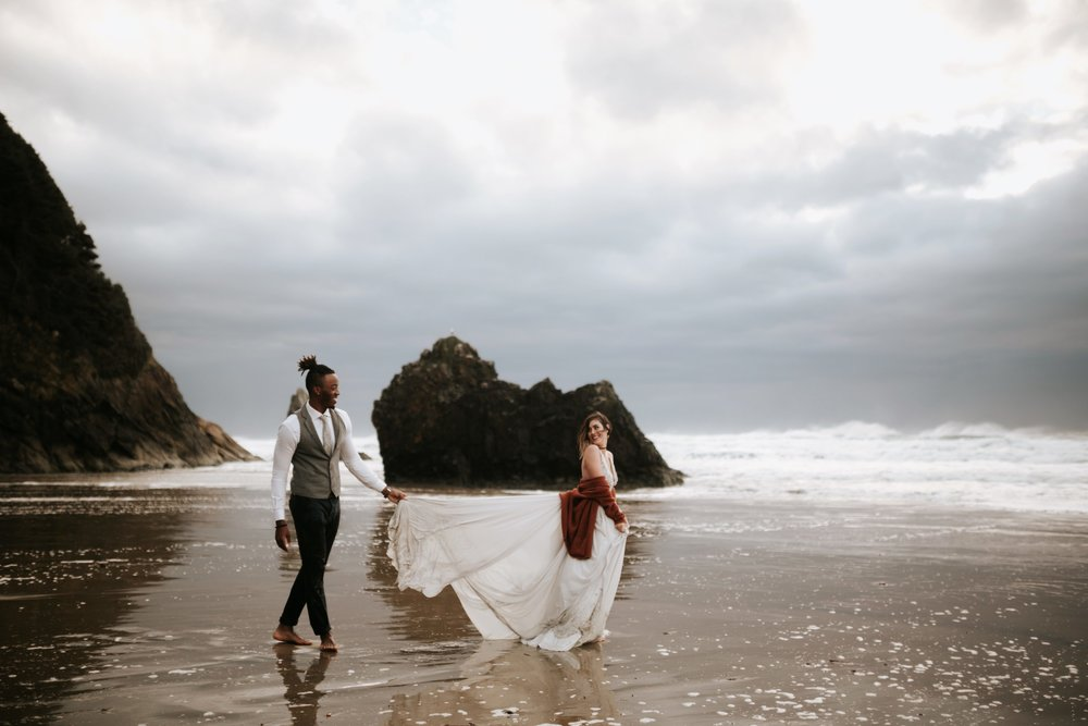 Hug Point Oregon Elopement- Cannon Beach- Grace and Jaden Photography (54).jpg