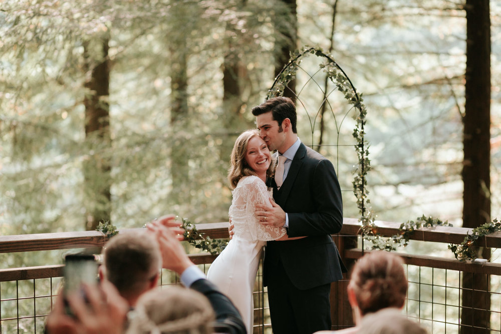 Hoyt Arboretum- Redwood Deck- Intimate Wedding (1)