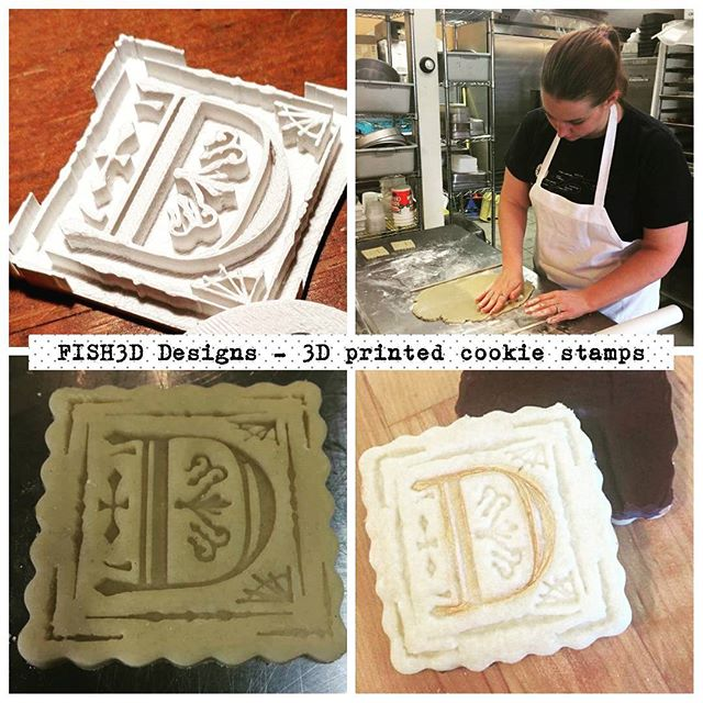Contact FISH3D DESIGNS for your own custom cookie stamps, stencil or cookie cutter. #cookielovers #local #sovt #vermontlove #eatvt #3Dprinted #cookiestamps #dorset #dorsetinn #dorsetrising #yourchoice #cookiecutters #customrequests #FISH3D @dorsetrising 💕💕🍪🍪🍥🍥🎂🎂