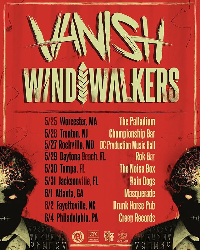 Beyond excited to announce we're hitting the road with @vanish.band this May/June! Who will we see out there??