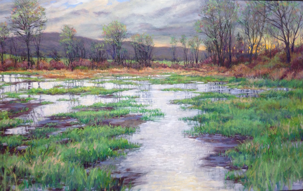 "April, 38x60""  Available at Bonfoey Gallery, Cleveland OH"