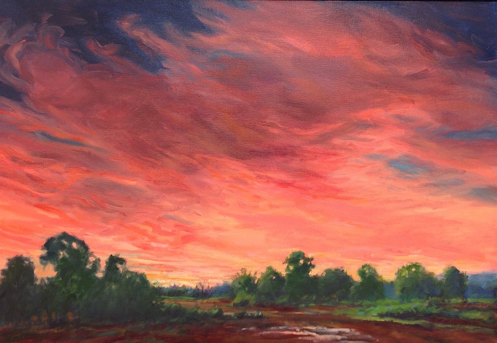Red Sunrise, 22x32""