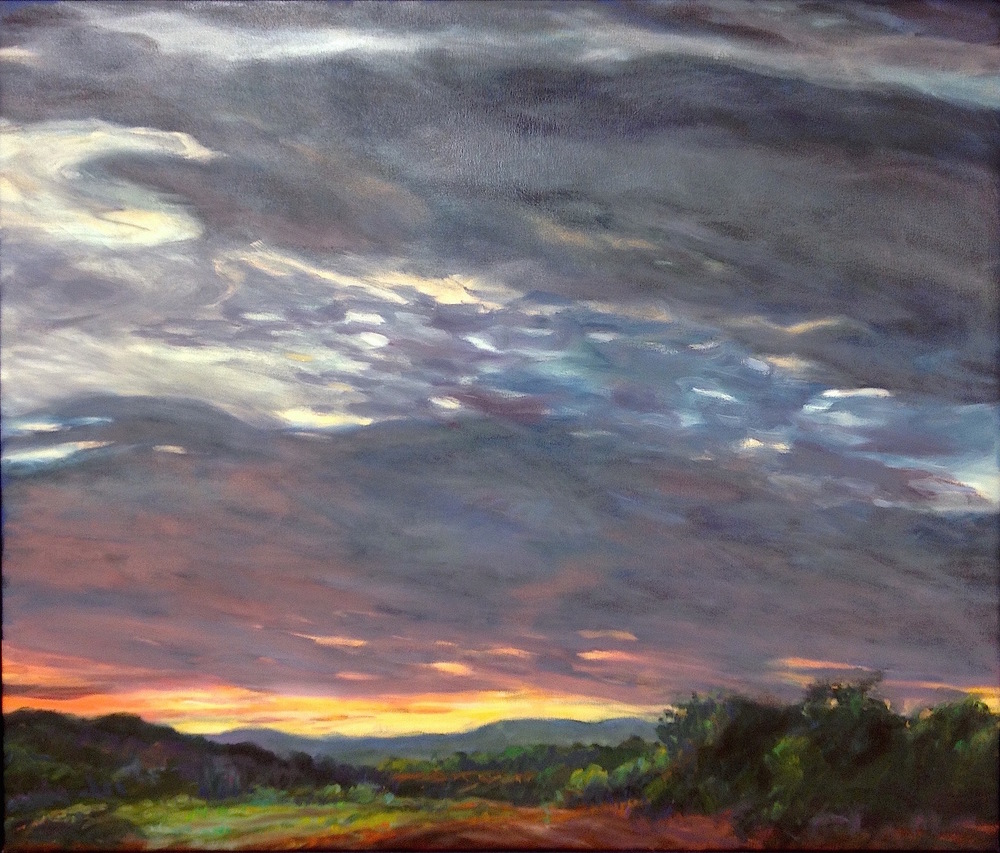 "Dusk, September,  28x40""  Available at Bonfoey Gallery, Cleveland OH"