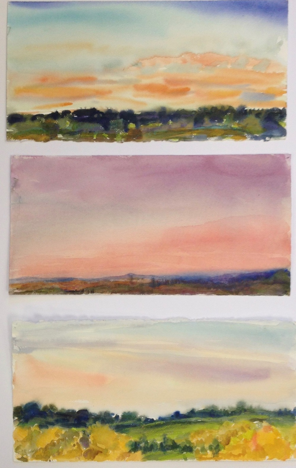 Sunset Studies, 30x22""