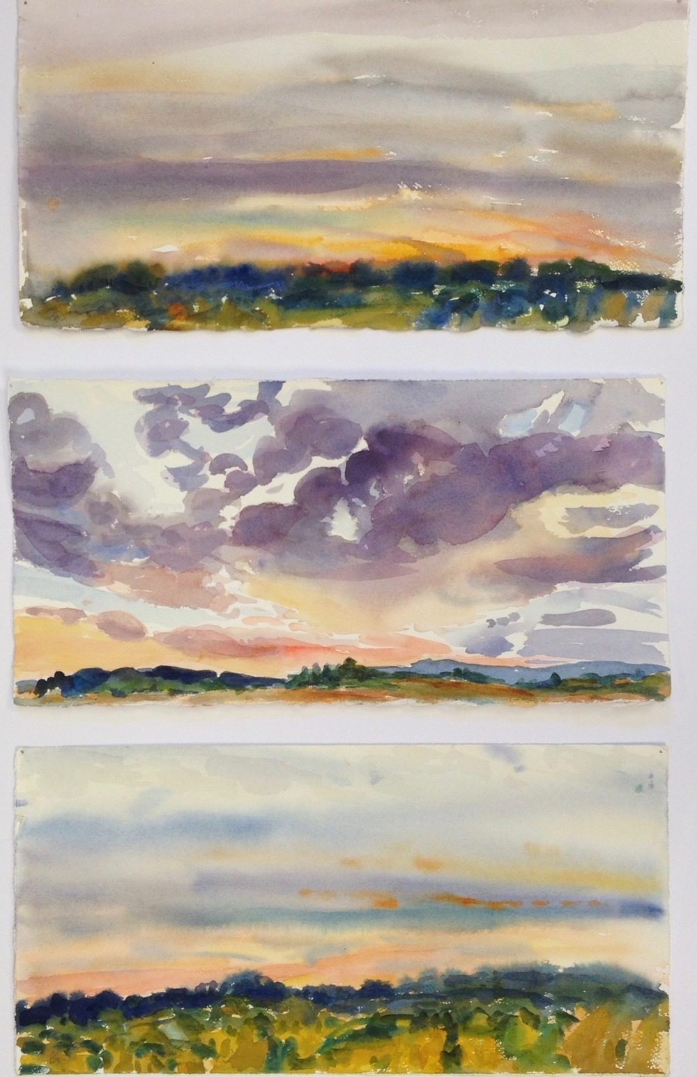 Sunset Studies II, 30x22""