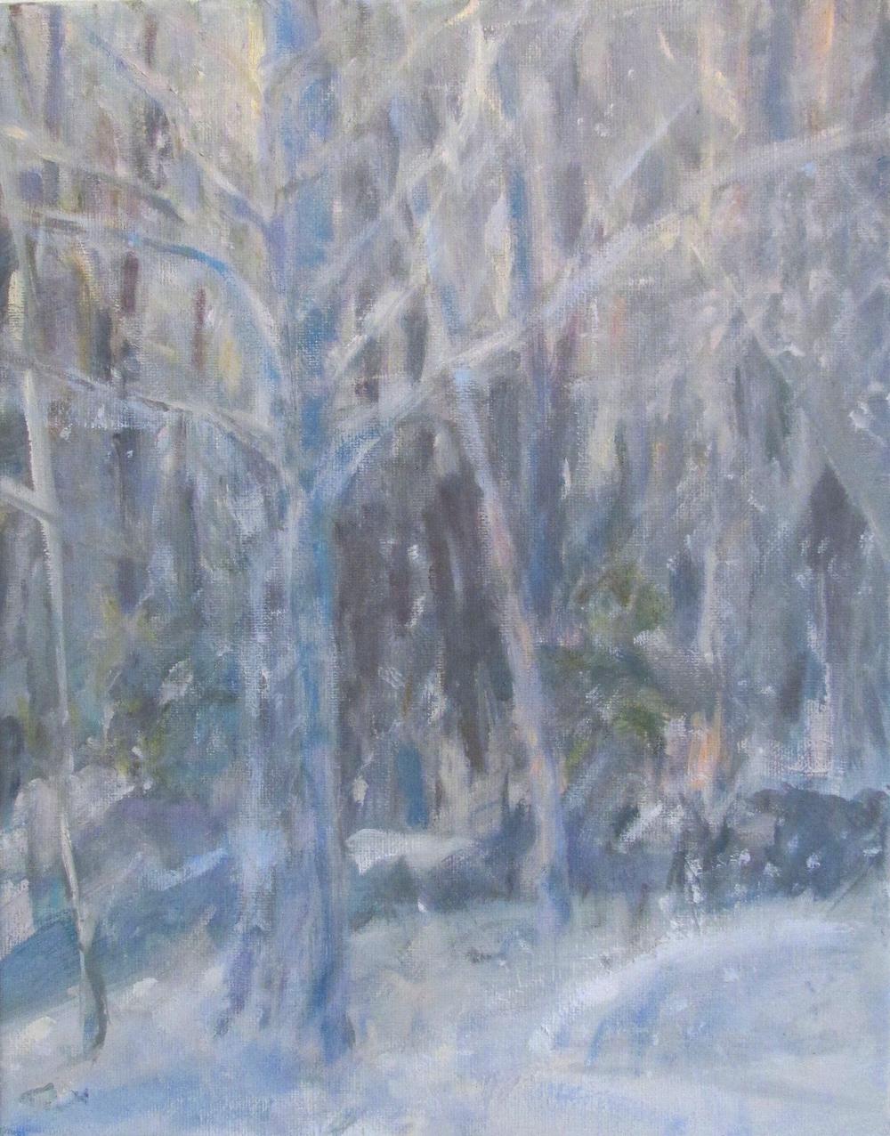 "Snowfall, 14x11"""