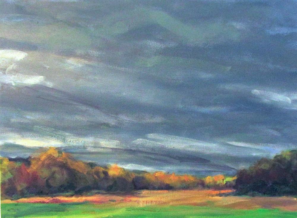 """October stormfield, 12x16"""""""
