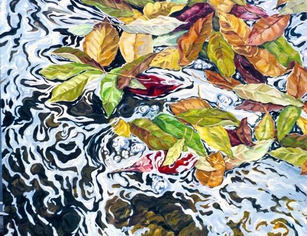 """October water,50x60"""""""