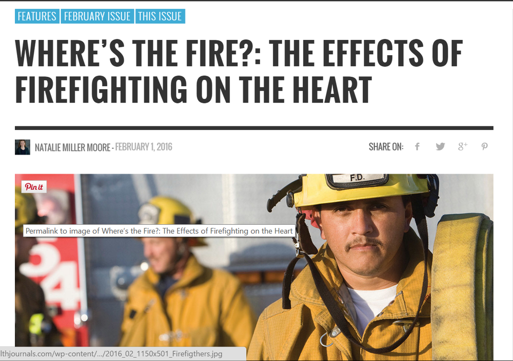 The Health Journal: Fire Fighters and Heart Disease