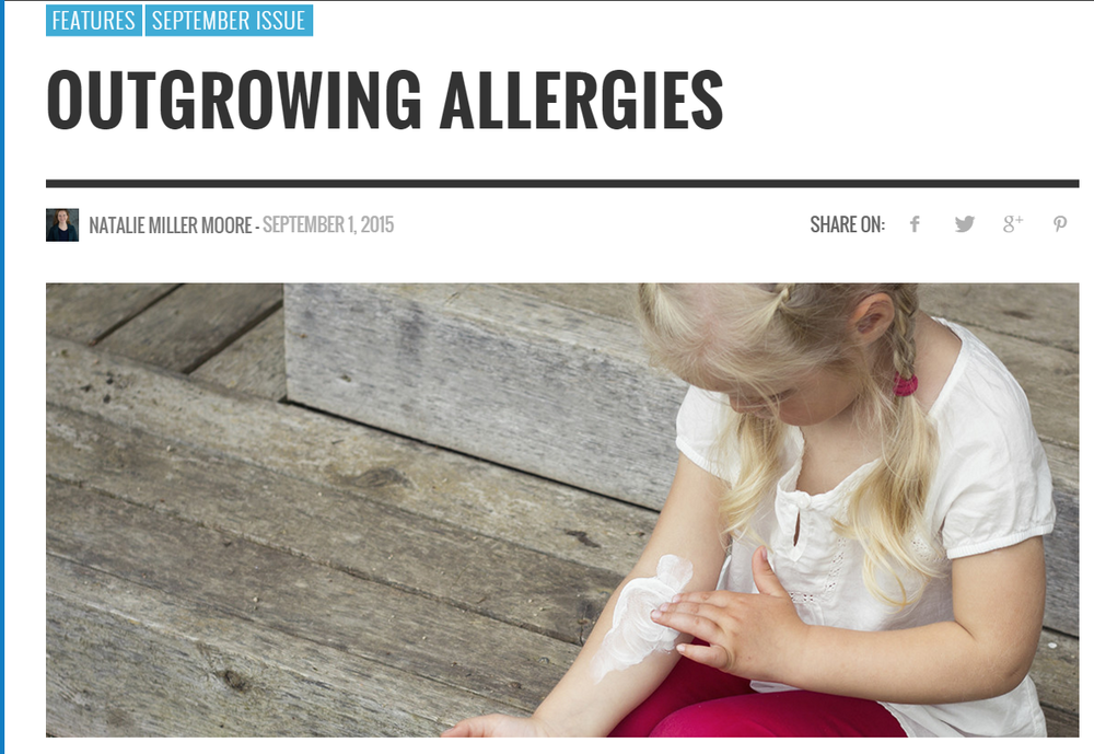 The Health Journal: Outgrowing Allergies