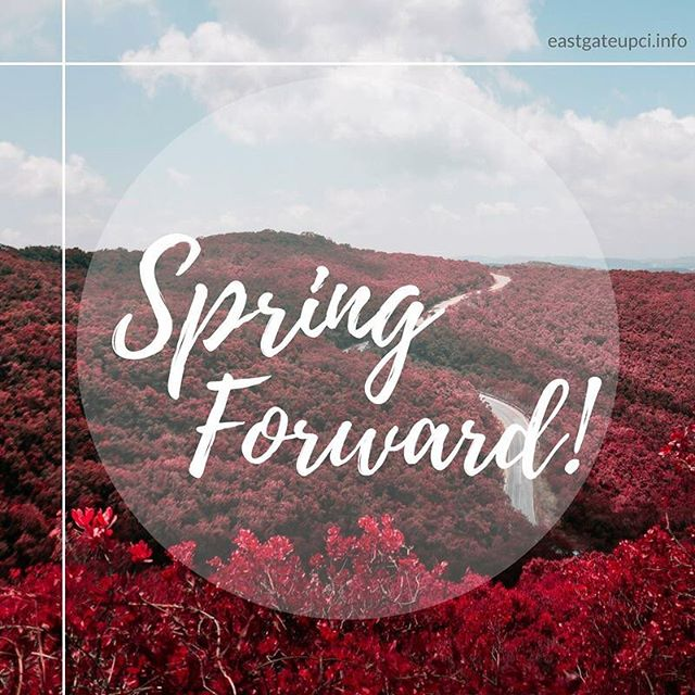Don't forget to move your clocks forward an hour before you go to bed! #Anchorage #Alaska #Spring #SpringForward #UPCI #EastGateUPC