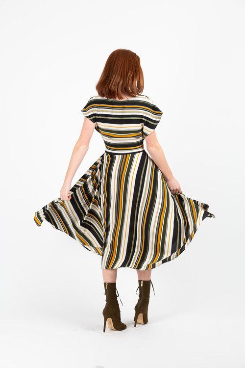 db231903b5a ... olive striped tie front dress jennafergrace handmade madeinusa