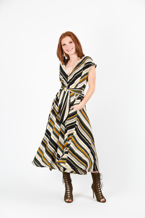 7ac7441eeb9 olive striped tie front dress jennafergrace handmade madeinusa ...