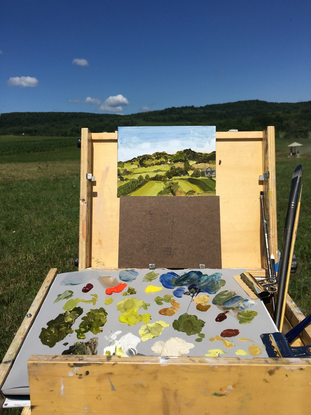 Plein Air painting at McEnroe Farms, a sister property to ChaNorth.