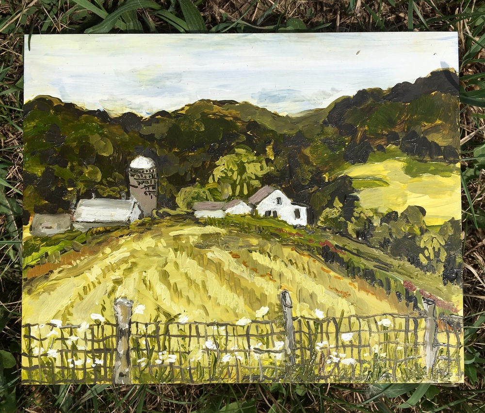 Image of my second painting at McEnroe Farms.