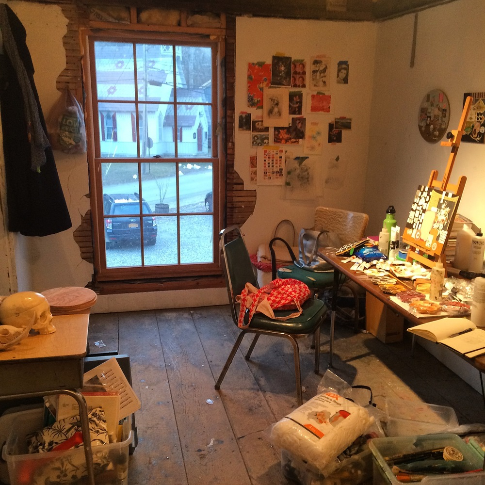 Kirstin Lamb Studio at Wassaic Project Artist Residency 2016.jpg
