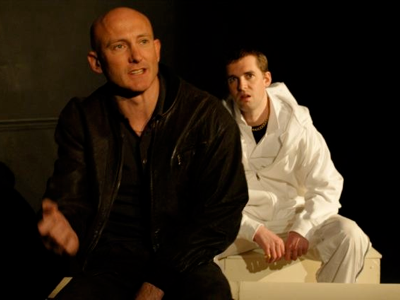 Gareth Watkins and Graham Townsend appear in the London production of The Black Eye.