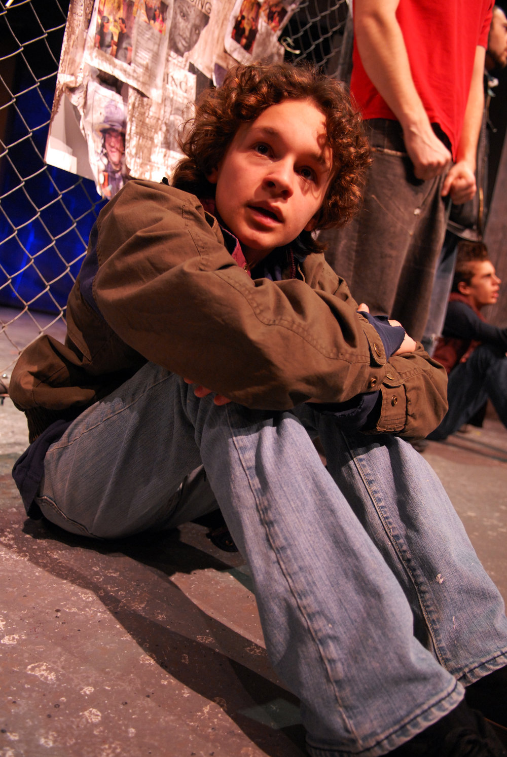"Nick Bucchianeri as a Wild Boy in my play ""Unsafe."""