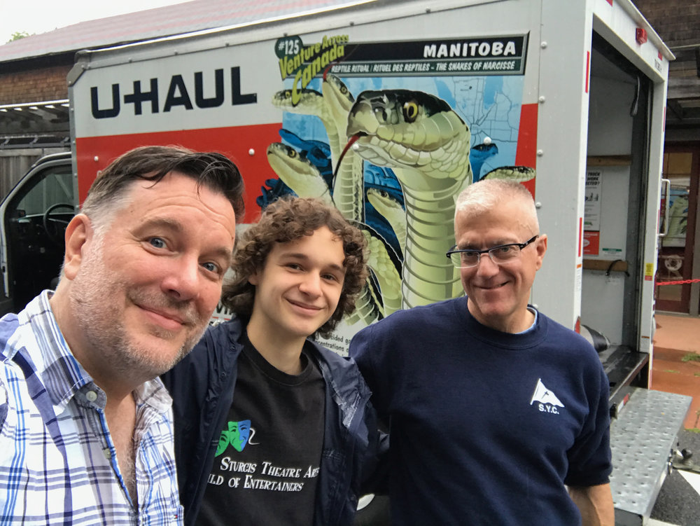 Packing up the U-Haul at Cotuit with Nick and Rob. (Ian sneaked off before I could take this pic.)