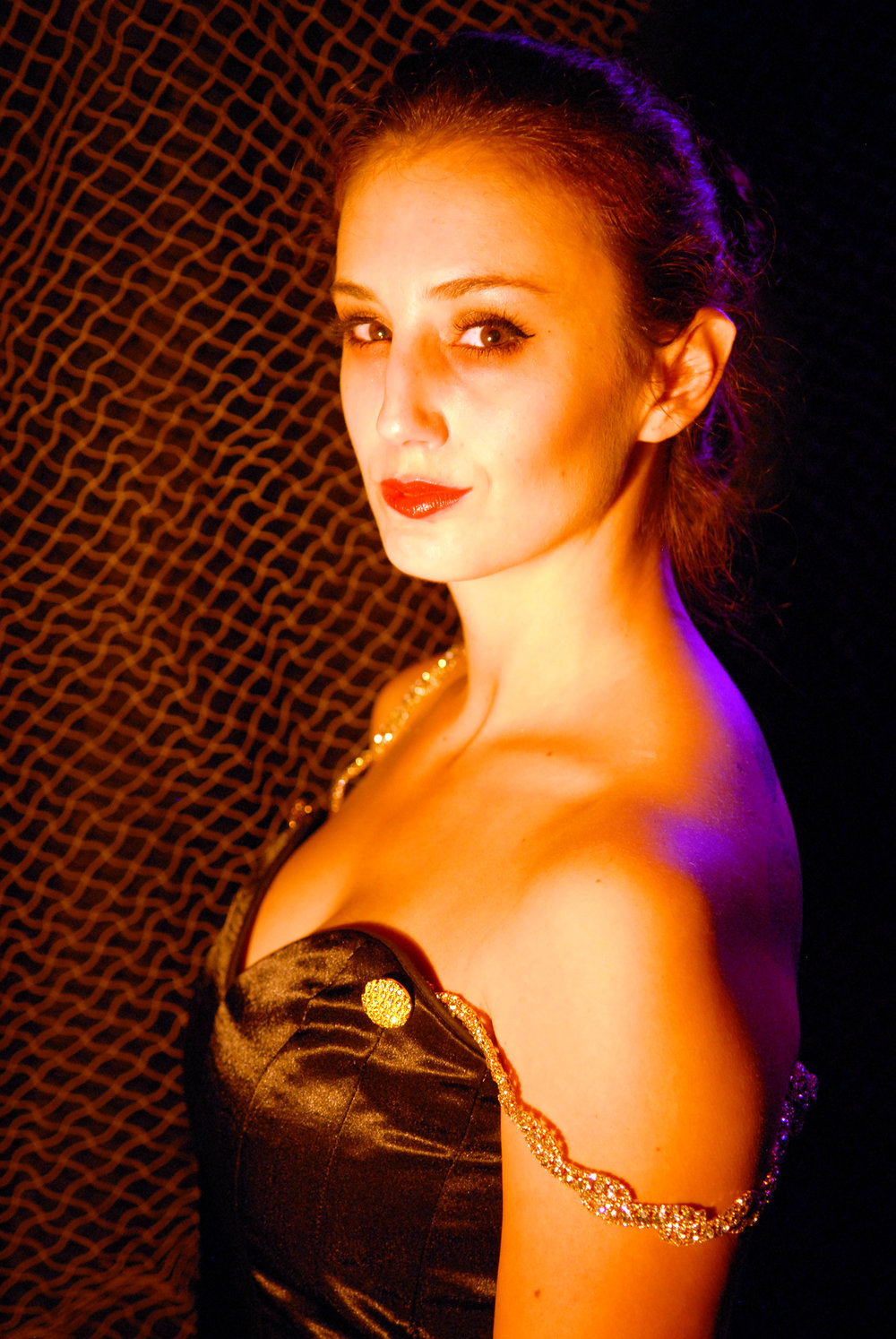 "Samantha McMahon as Madame X in ""Dark Tales Told on a Cold Autumn Eve"""