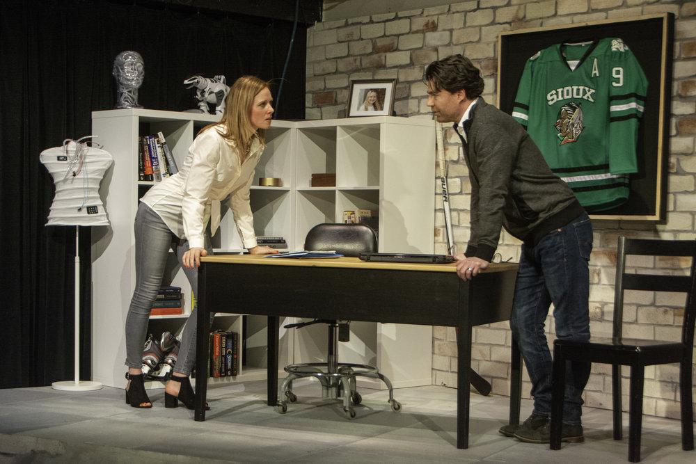 Anna Botsford as Victoria and Beau Jackett as Greg. Photo by Alan Trugman.