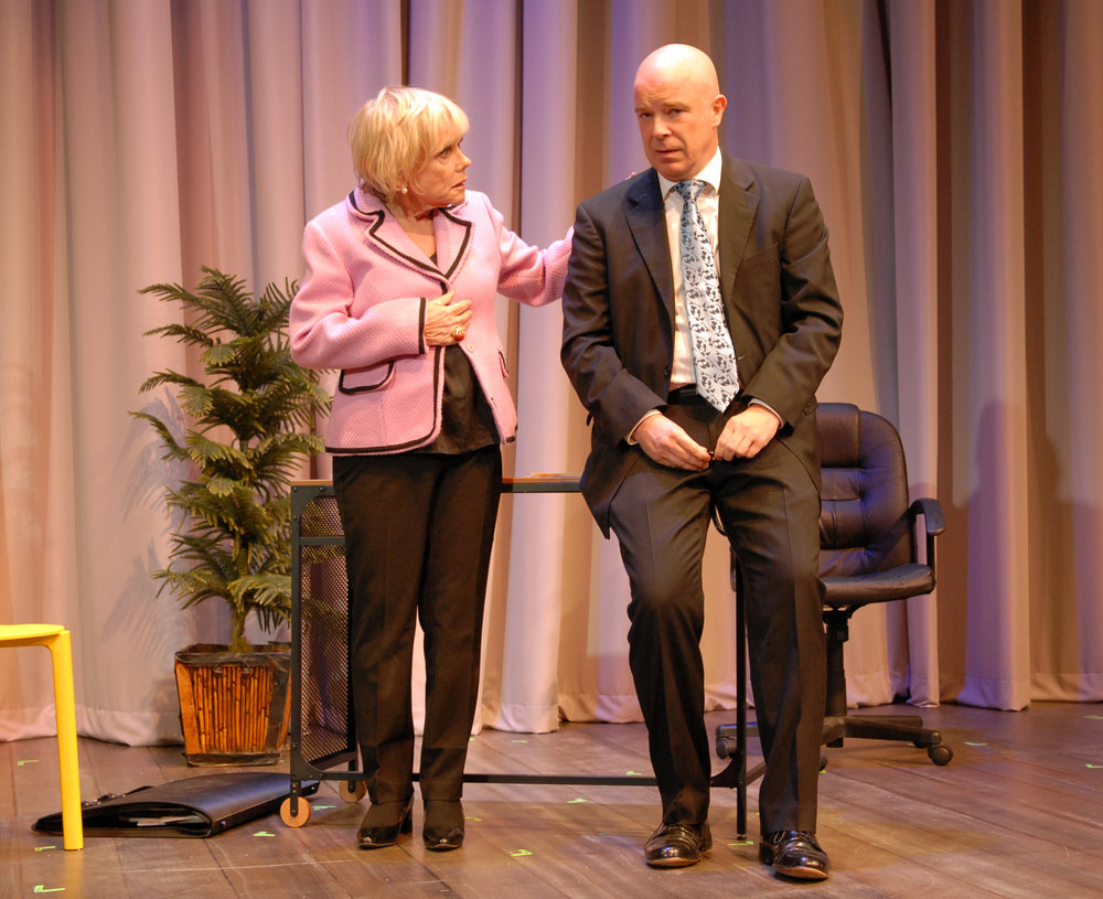 "Lynda Sturner as ""Maxie"" and Ian Ryan as ""Christopher."""